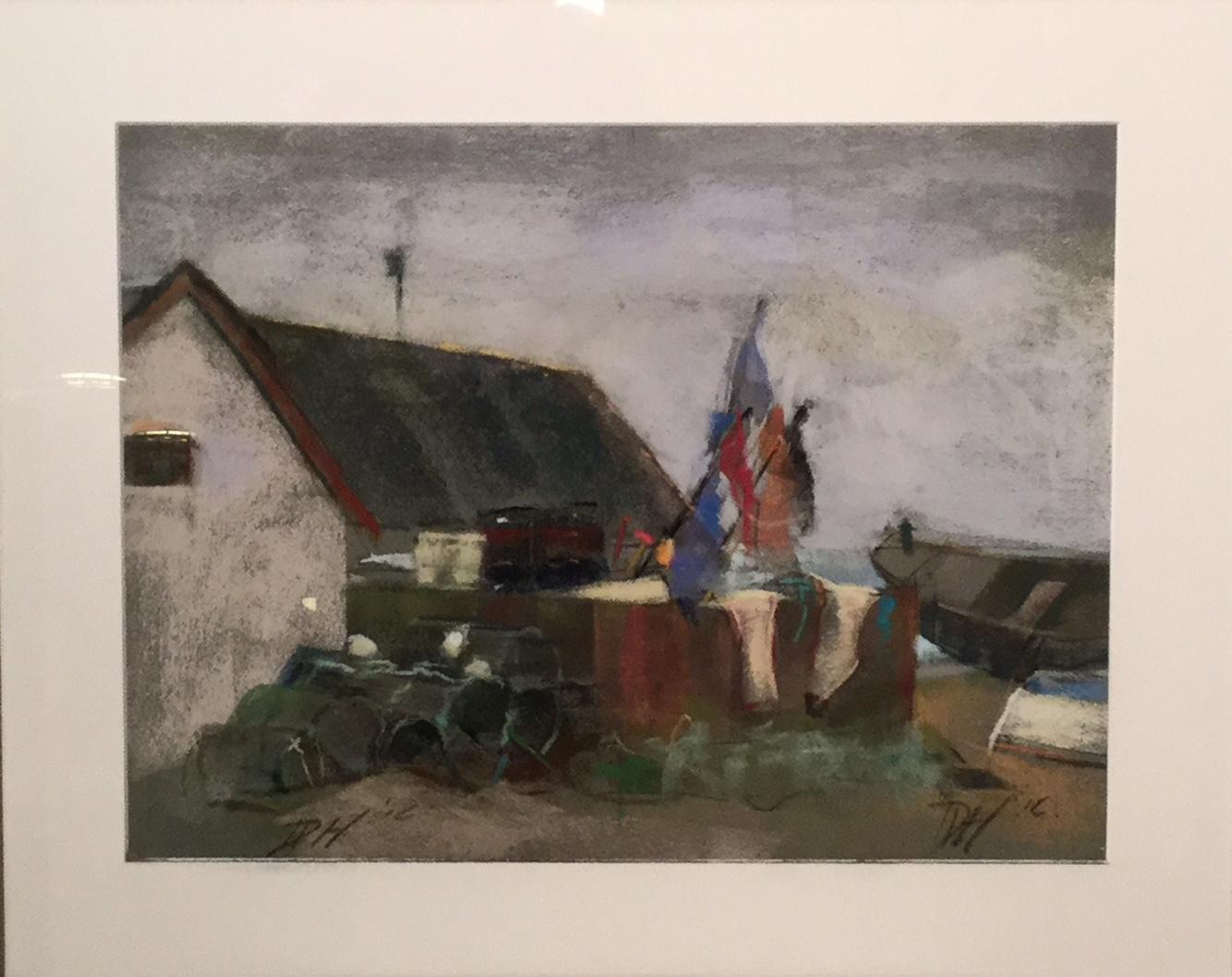 Fiskerhus og både, Klitmøller af Deborah Damgaard-Hansen